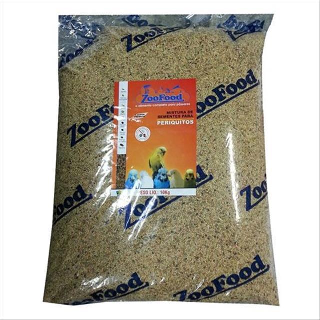 mistura de sementes para periquitos zoofood - 10kg