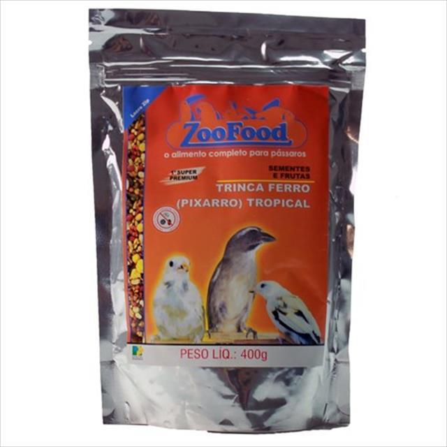 mistura de sementes trinca ferro pixarro zoofood - 400g