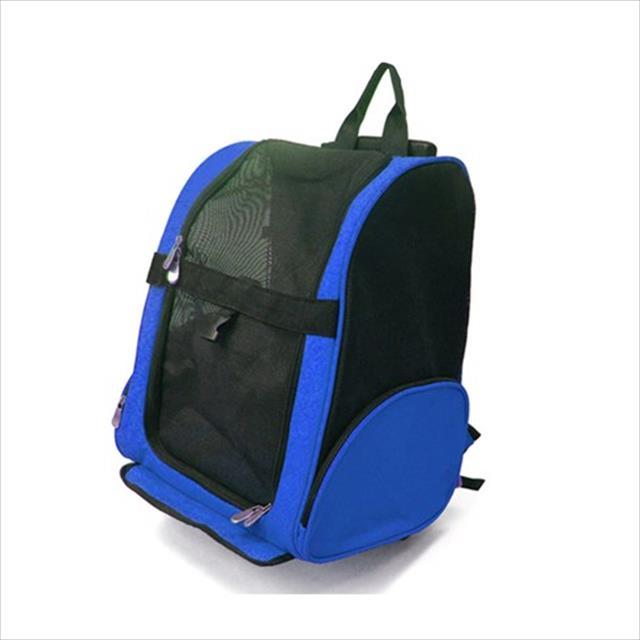mochila canguru chalesco - azul e preta
