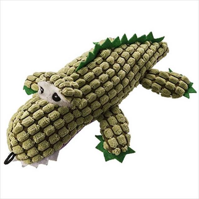 mordedor de pelúcia jambo alligator para cães - verde
