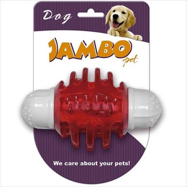 mordedor jambo nylon com apito para cães - vermelho