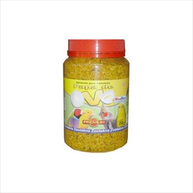 papa de ovo amarela alimento multivitamínico zootekna - 250gr