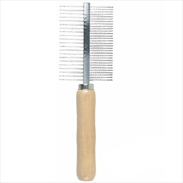 pente duplo cabo de madeira - 52 dentes