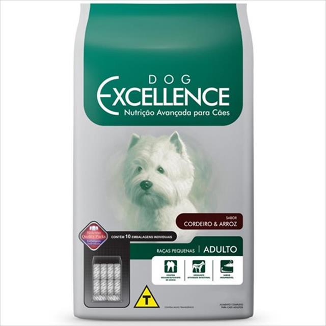 ração dog excellence para cães adultos de raças pequenas - cordeiro e arroz 10,1 kg