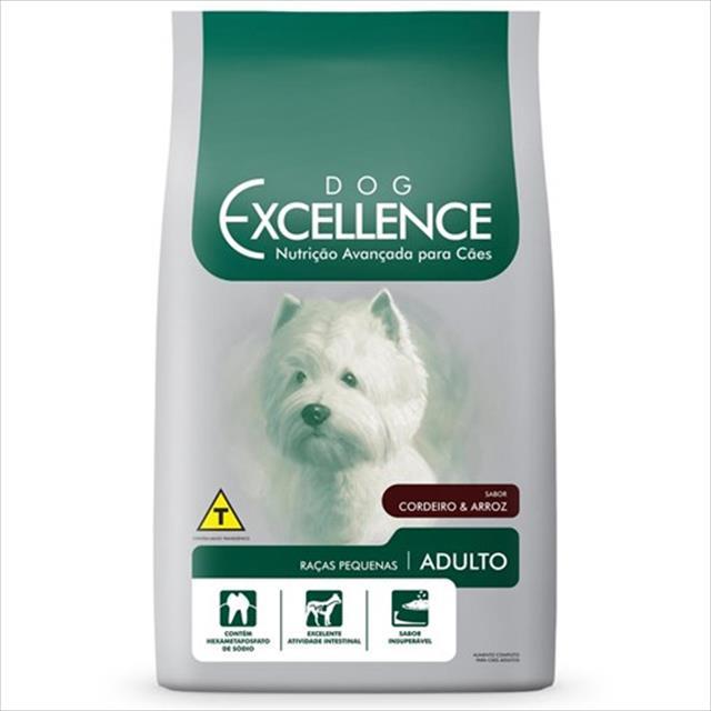 ração dog excellence para cães adultos de raças pequenas - cordeiro e arroz 1,5 kg