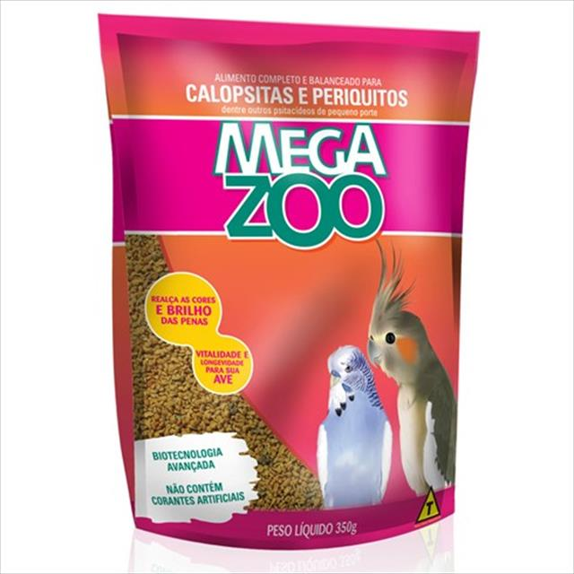 ração extrusada para calopsitas e periquitos megazoo - 5kg