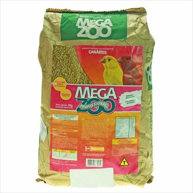 ração extrusada para canários megazoo - 5kg