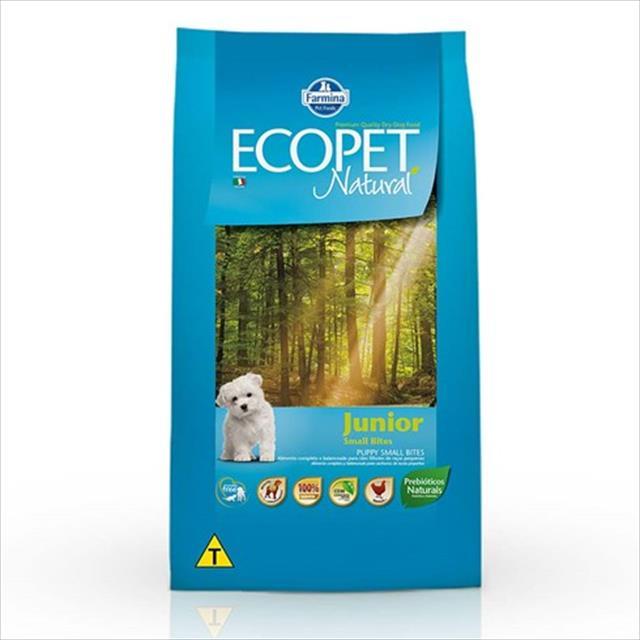 ração farmina ecopet natural junior para cães filhotes de raças pequenas - 1 kg