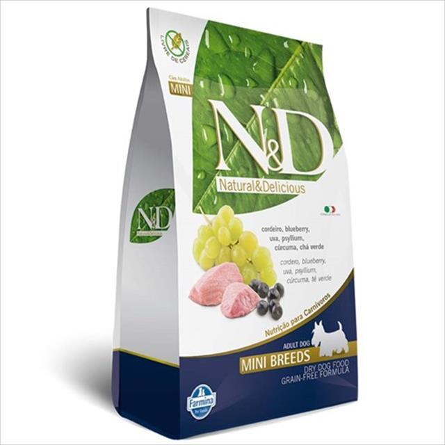 ração farmina n & d grain free cordeiro para cães adultos de raças pequenas - 800 g