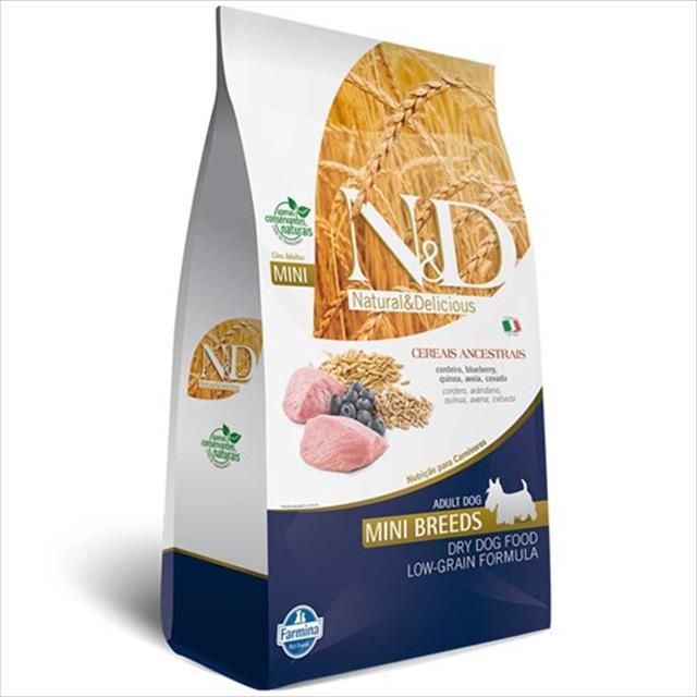 ração farmina n & d low grain cordeiro para cães adultos de raças pequenas - 2,5 kg