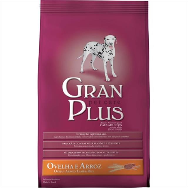 ração guabi granplus ovelha e arroz para cães adultos - 3 kg
