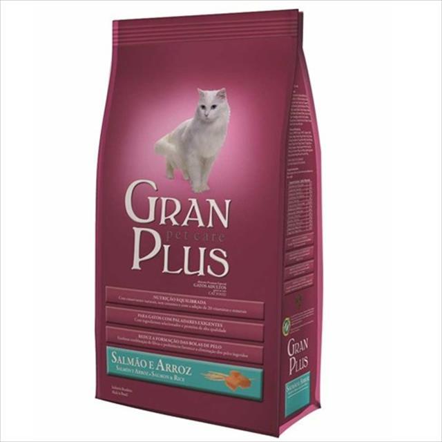 ração granplus gatos castrados salmão arroz  - 10 kg