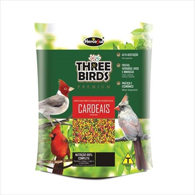ração hercosul three birds premium para cardeais adultos - 300gr