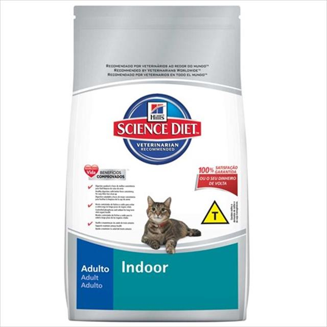ração hills science diet indoor para gatos adultos com mais de 7 anos - 1,5 kg