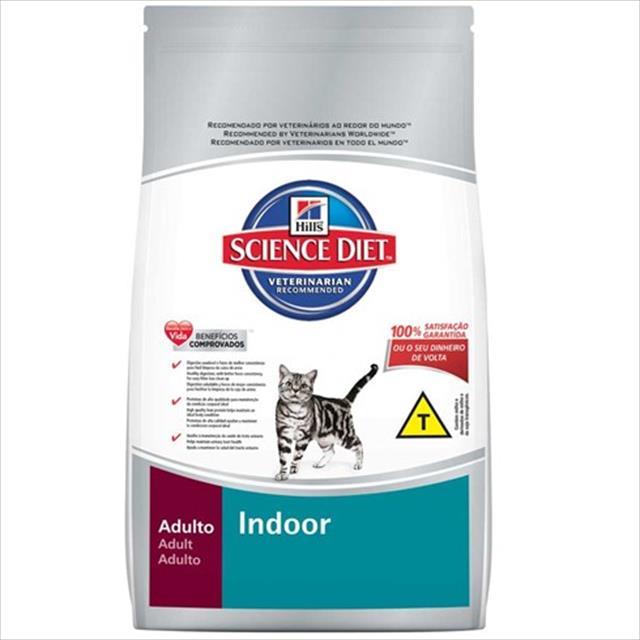 ração hills science diet indoor para gatos adultos de 1 a 6 anos - 1,5 kg