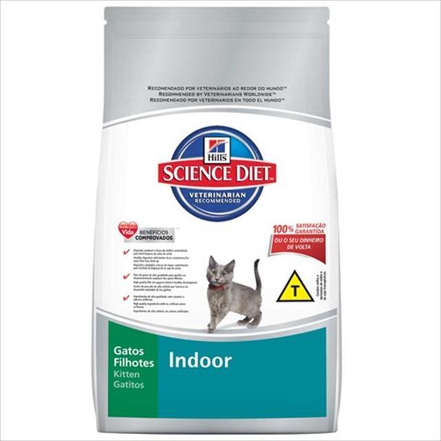 ração hills science diet indoor para gatos filhotes - 1,5 kg