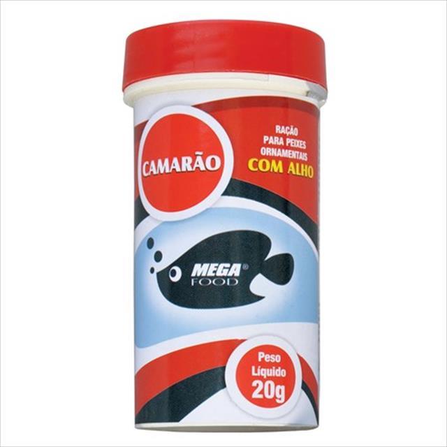 ração mega food camarão - 20gr