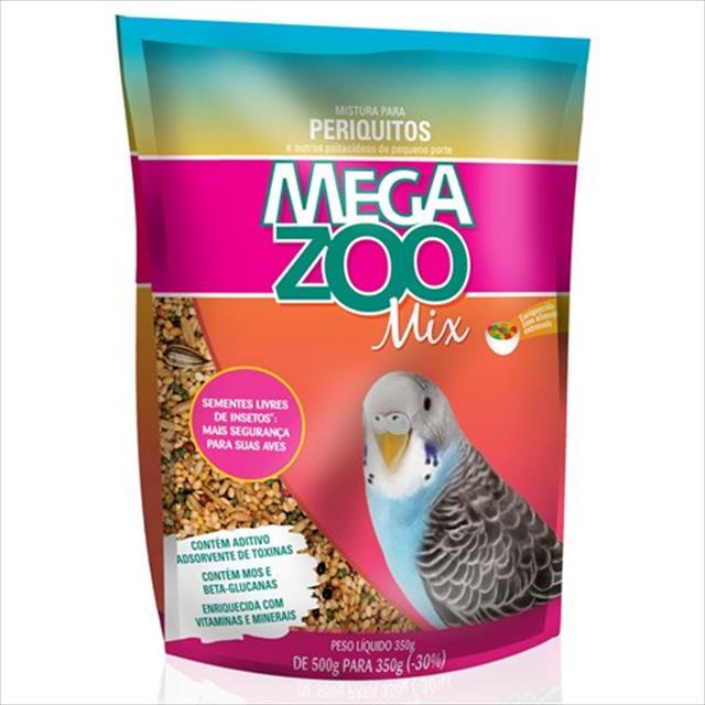 ração mix para periquitos megazoo - 350gr