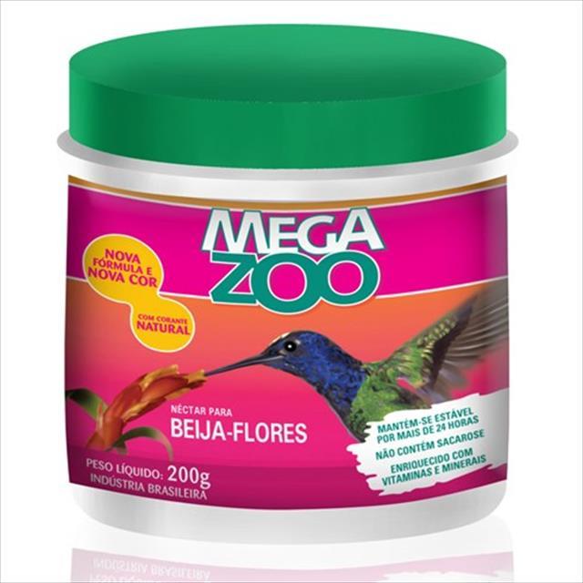 ra��o n�ctar para beija flores megazoo - 200gr