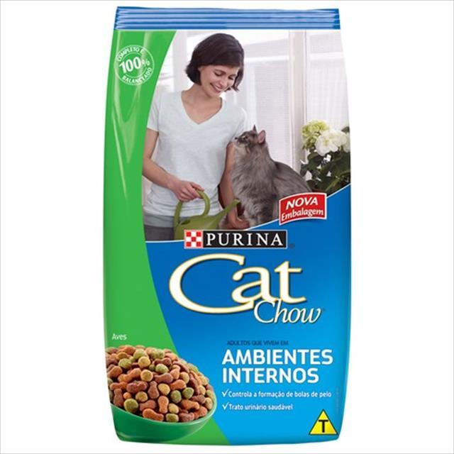 ra��o nestl� purina cat chow adultos ambiente interno - 3kg