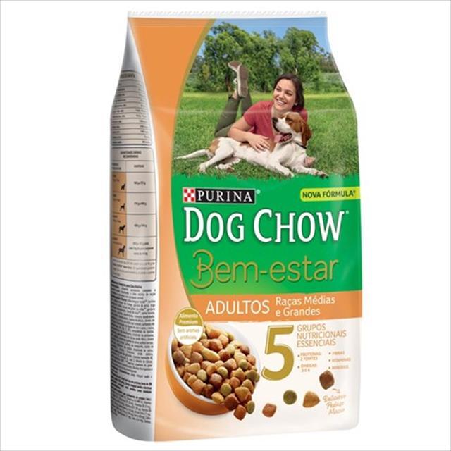 ração nestlé purina dog chow bem estar adultos raças médias e grandes - 15kg
