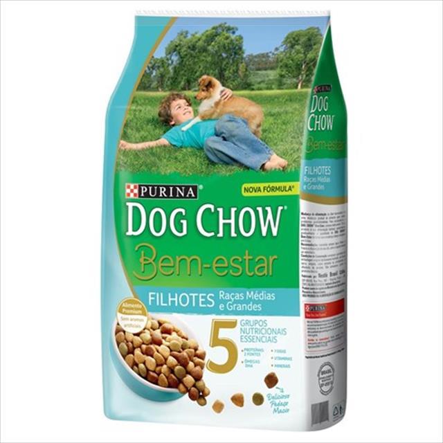 ração nestlé purina dog chow bem estar filhotes de raças médias e grandes - 1kg