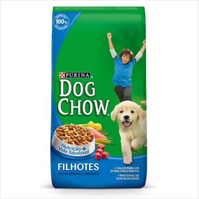 ração nestlé purina dog chow filhotes raças médias e grandes -  10,1kg