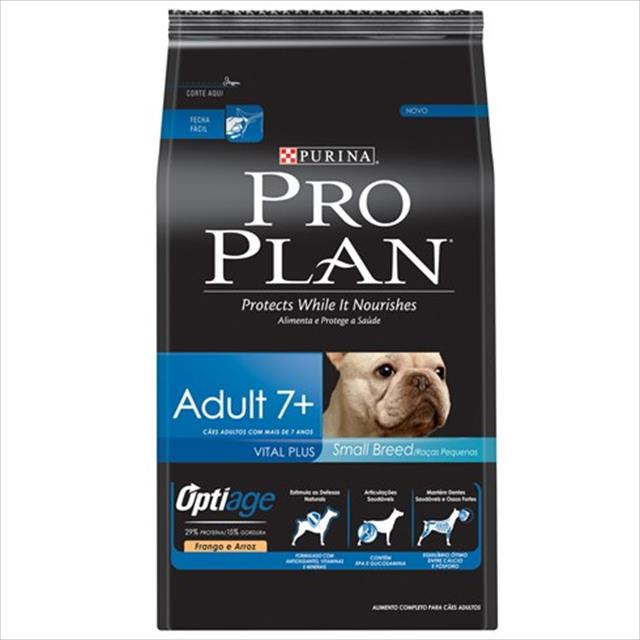 ração nestlé purina pro plan dog small breed 7+ - 3kg