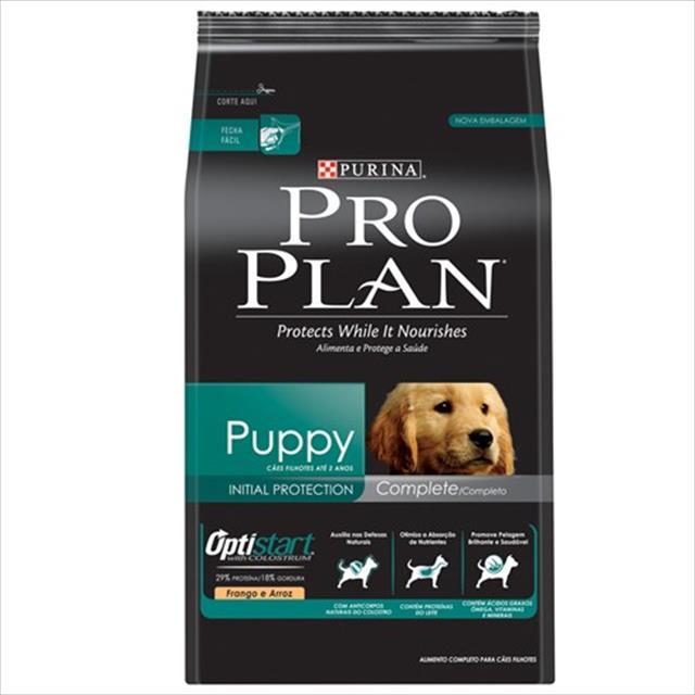 ração nestlé purina pro plan puppy optistart complete sabor frango e arroz - 3kg