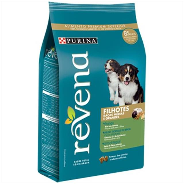 ração nestlé purina revena para cães filhotes raças médias e grandes - 15kg