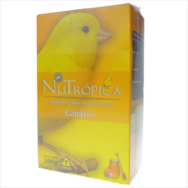 ração nutrópica à base de mel e ovos para canários - 300gr