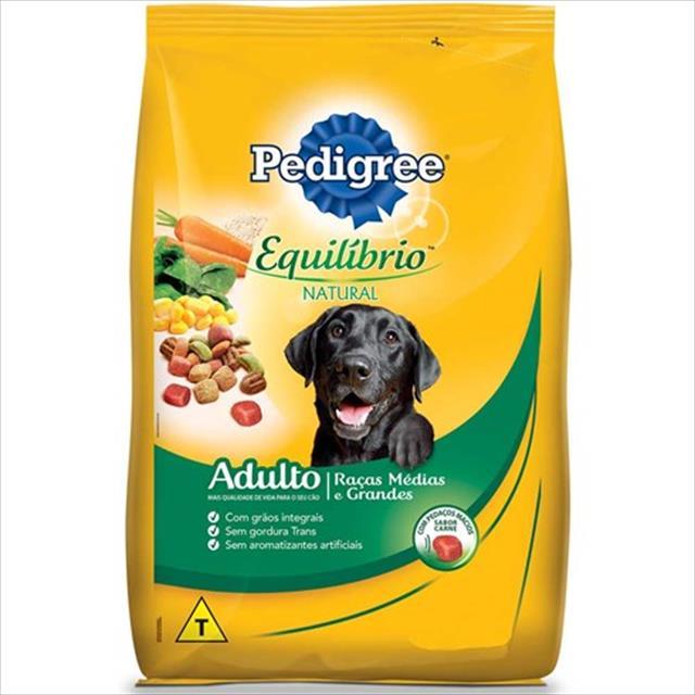 ração pedigree equilíbrio natural para cães adultos de raças médias e grandes - 1kg