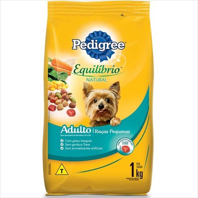 ração pedigree equilíbrio natural para cães adultos de raças pequenas - 1kg