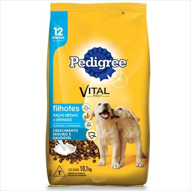 ração pedigree junior para cães filhotes de raças médias e grandes - 20kg
