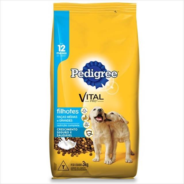 ração pedigree junior para cães filhotes de raças médias e grandes - 3kg