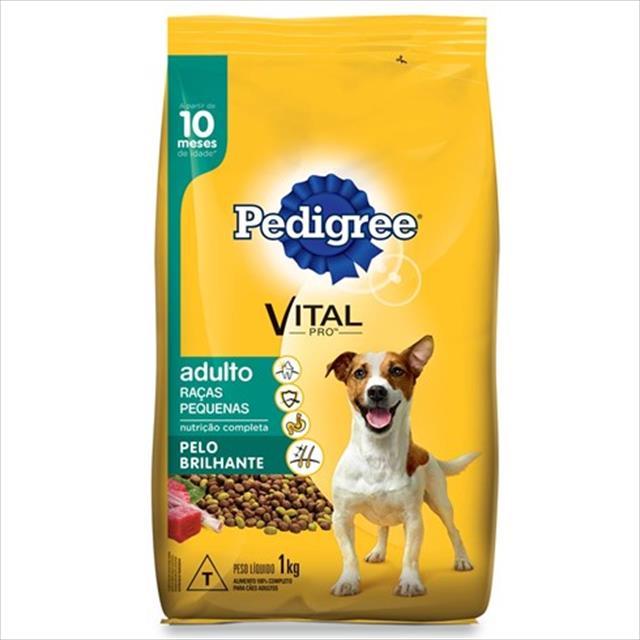 ração pedigree pelo brilhante para cães adultos de raças pequenas a partir de 10 meses de idade ração pedigree pelo brilhante para cães adultos de raças pequenas - 1kg