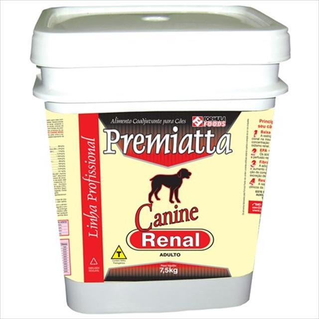 ração premiatta canine renal - 7,5kg