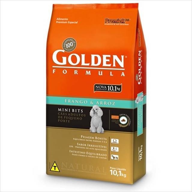 ração premier golden formula cães adultos frango e arroz mini bits ração premier golden formula cães adultos mini bits frango e arroz  - 10kg