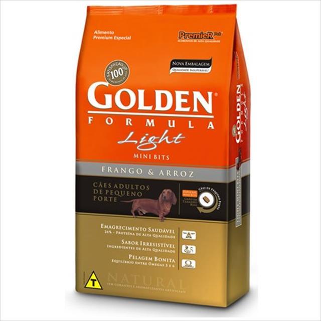 ração premier golden formula cães adultos light mini bits frango e arroz - 10kg
