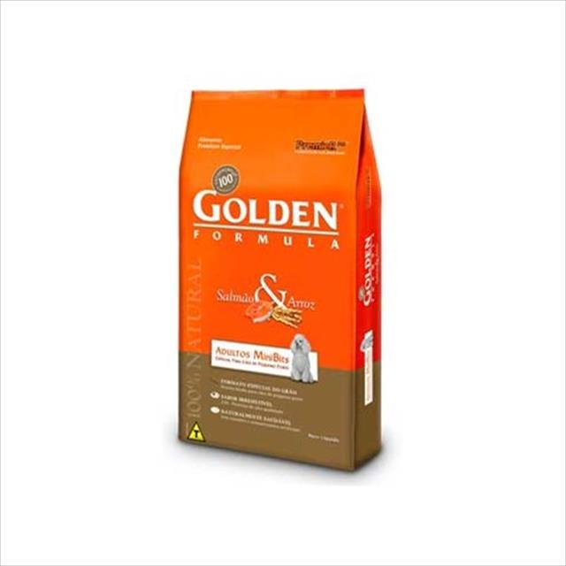 ração premier golden formula cães adultos mini bits salmão e arroz - 15kg