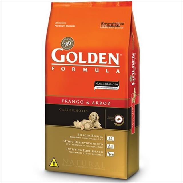 ração premier golden formula cães filhotes frango e arroz - 20kg