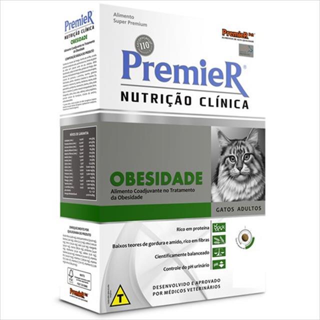 ração premier nutrição clínica para gatos obesidade - 1,5kg