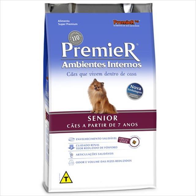 ração premier pet ambientes internos cães sênior - 2,5kg
