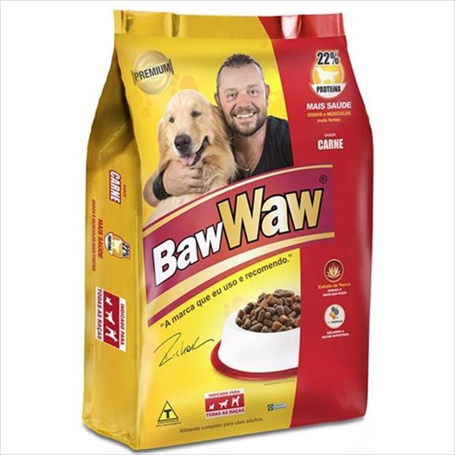 ração premium baw waw original carne - 3 kg