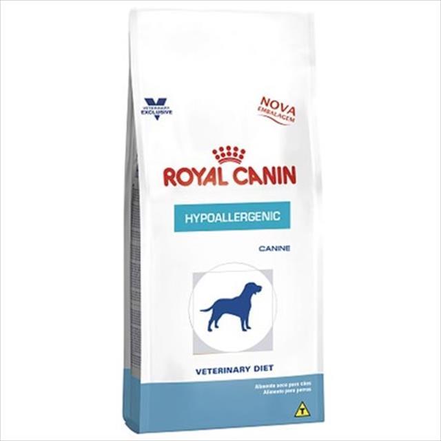 ração royal canin canine veterinary diet hypoallergenic para cães adultos com alergias - 2 kg