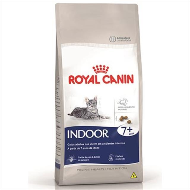 ração royal canin feline health nutrition indoor 7 + para gatos adultos - 400 g