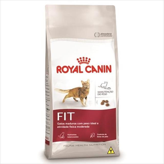 ração royal canin fit para gatos - 3 kg