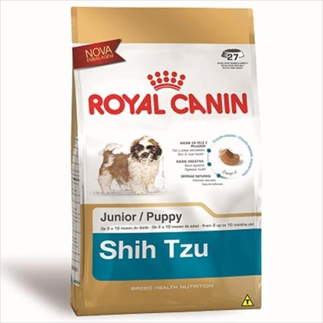 ração royal canin junior para cães filhotes da raça shih tzu ração royal canin shih tzu junior - 3 kg