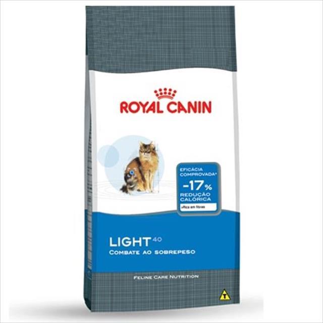 ração royal canin light 40 para gatos adultos com tendencia a obesidade - 7,5 kg
