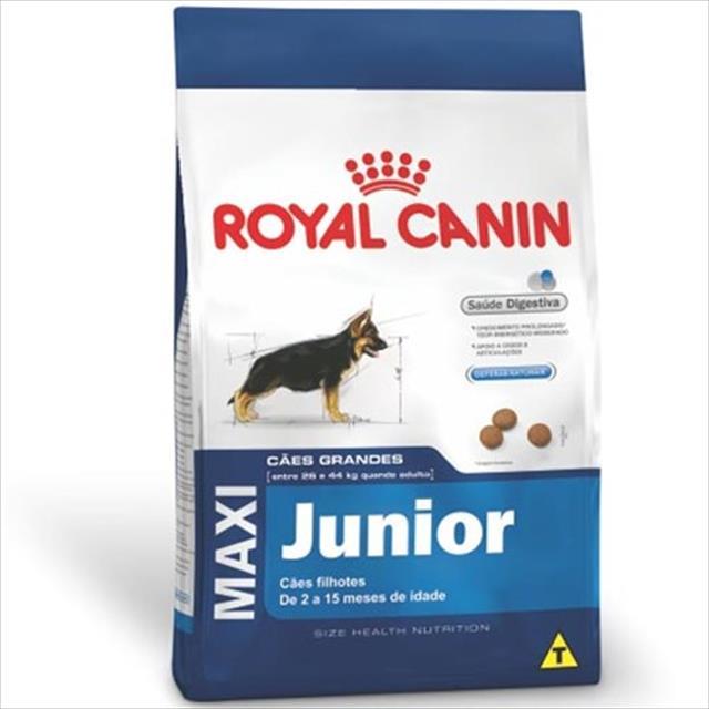 ração royal canin maxi junior para cães filhotes de raças grandes de 2 a 15 meses de idade ração royal canin maxi junior para cães de raças grandes filhotes de 2 a 15 meses de idade - 15 kg